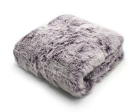 Luxe Faux Fur Sofa Throw Soft Warm Cosy Winter Blanket Fleece Throw, 127cm x 147cm, Ontario Purple